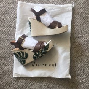 Palm Leaf Wedge - size EU 39, fit like size 8